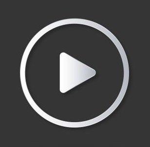 Icono de Youtube negro