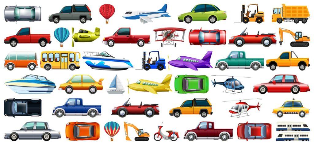 Diferentes medios de transporte