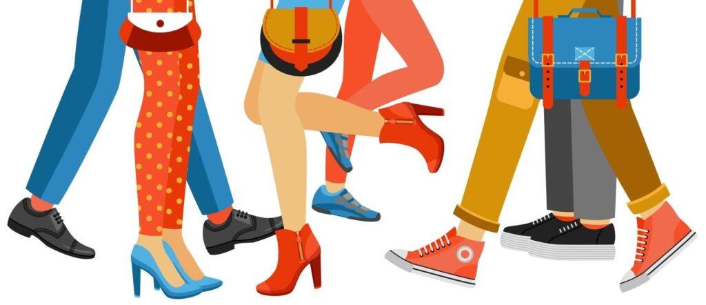 Hombres y mujeres con ropa diferente