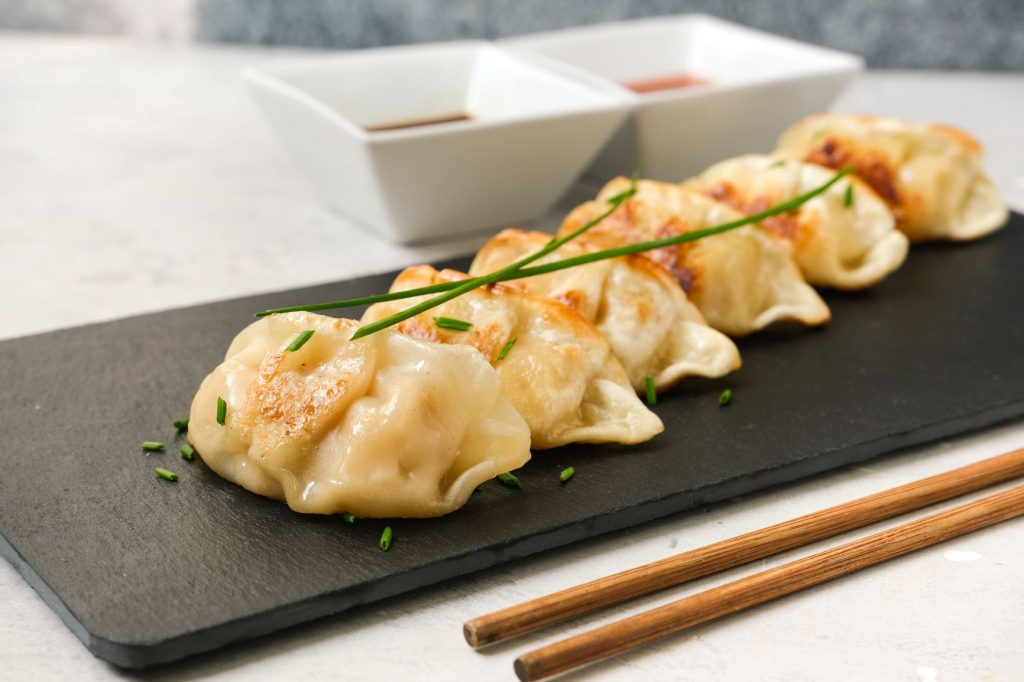 Dumplings en un restaurante chino