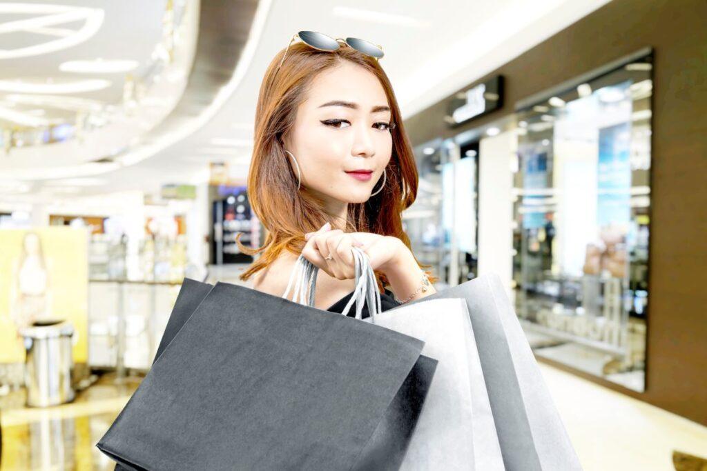 Mujer de moda en China