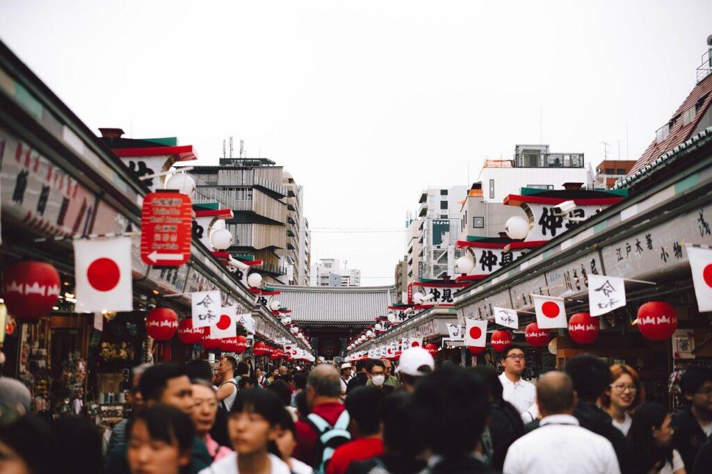 Turistas en Semana Dorada de Japón
