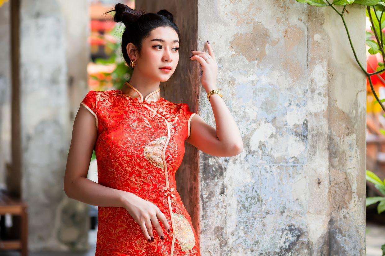 Moda en china-Qipao rojo
